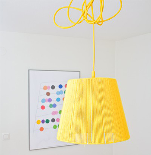 Bright+Yellow+Ceiling+Light+with+flex+cord Mimmistaff Crochet Lovelies