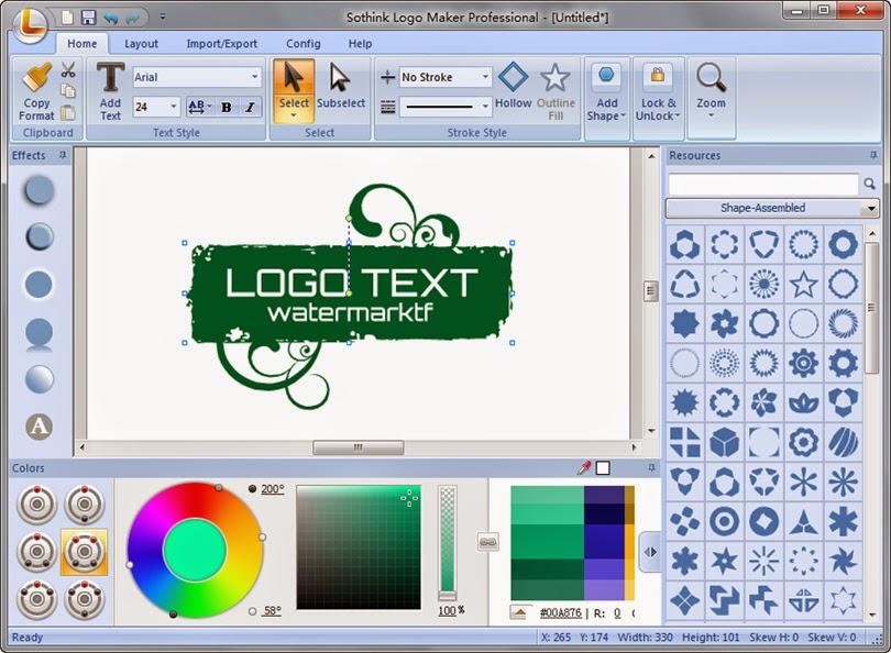 Sothink Logo Maker - Software Gratis untuk Membuat Logo