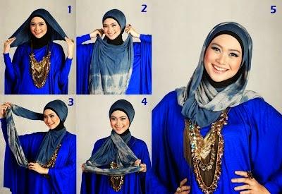Tata Cara Pakai Hijab Segi Empat