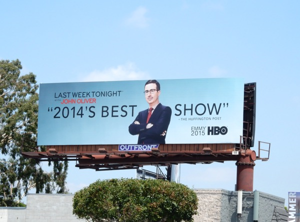 Last Week Tonight John Oliver 2015 Emmy billboard