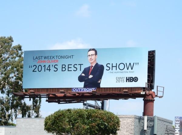 Last Week Tonight John Oliver 2015 Emmy billboard