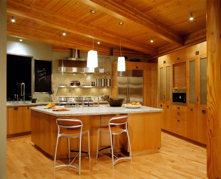 Home interior design kitchen interior design kitchen for Modern kitchen in traditional house
