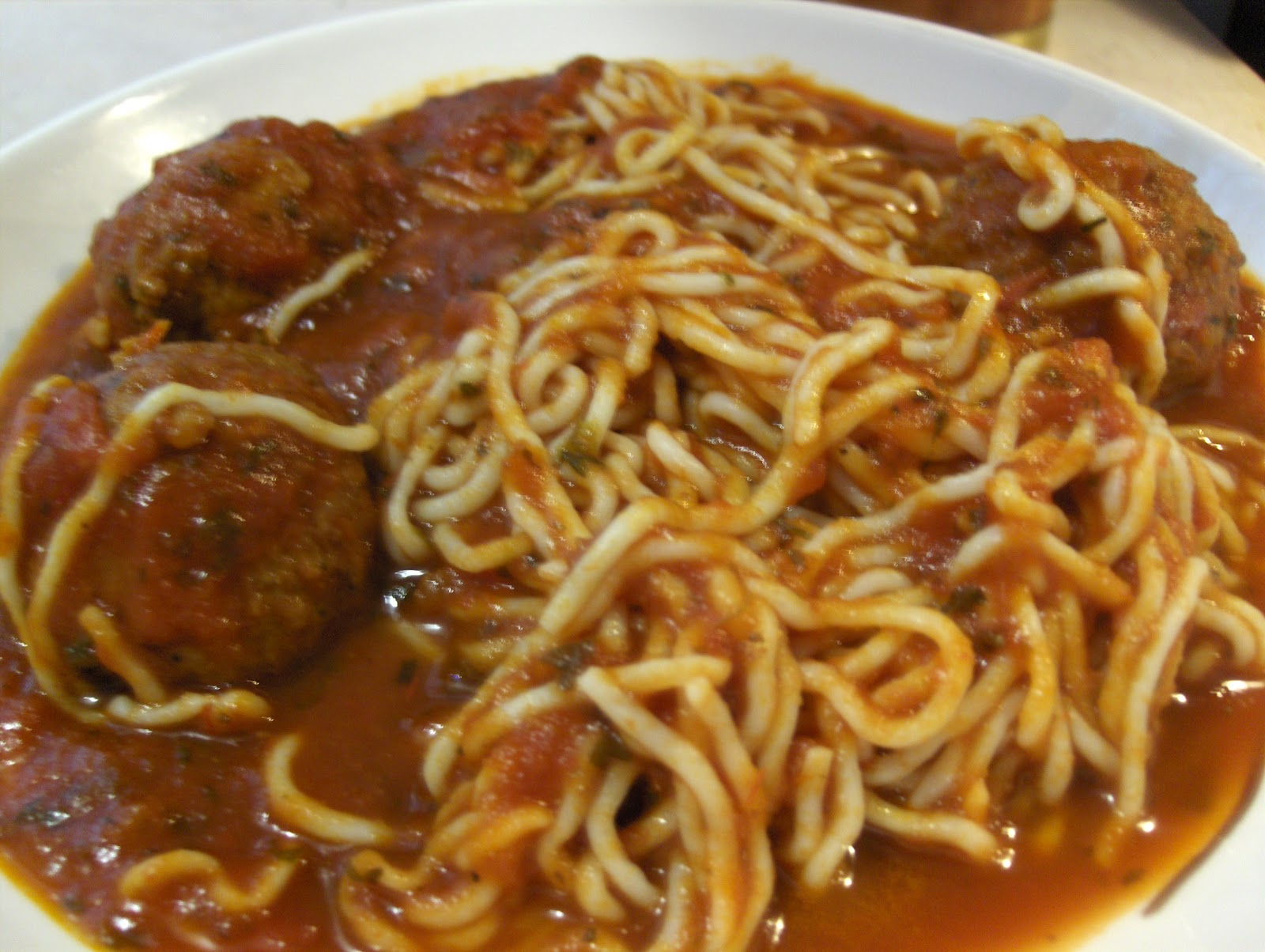 Today's Menu: Tofu Spaghetti and Turkey Meatballs