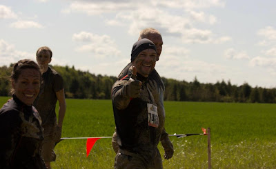 Me running Tough Mudder in the first TM race in the UK