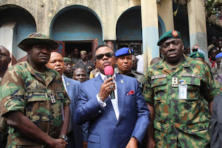 Governor Obiano visits Onitsha Central Mosque razed during pro-Biafra protest