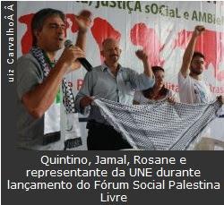 Lançamento do Fórum Social Palestina Livre