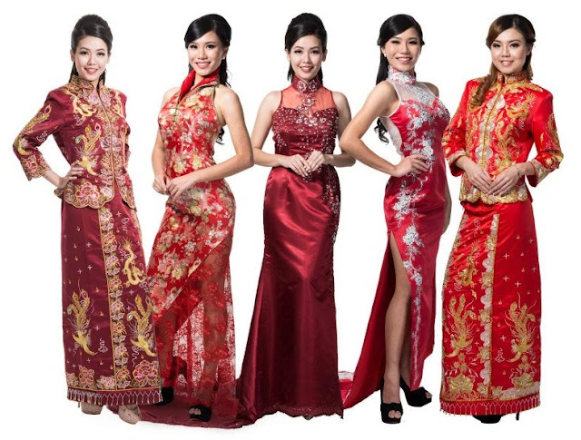 qipao selection for wedding