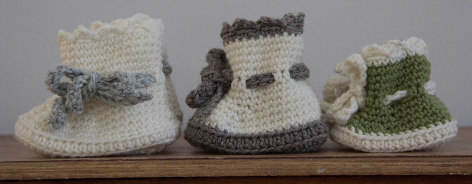 crochet baby boots patern