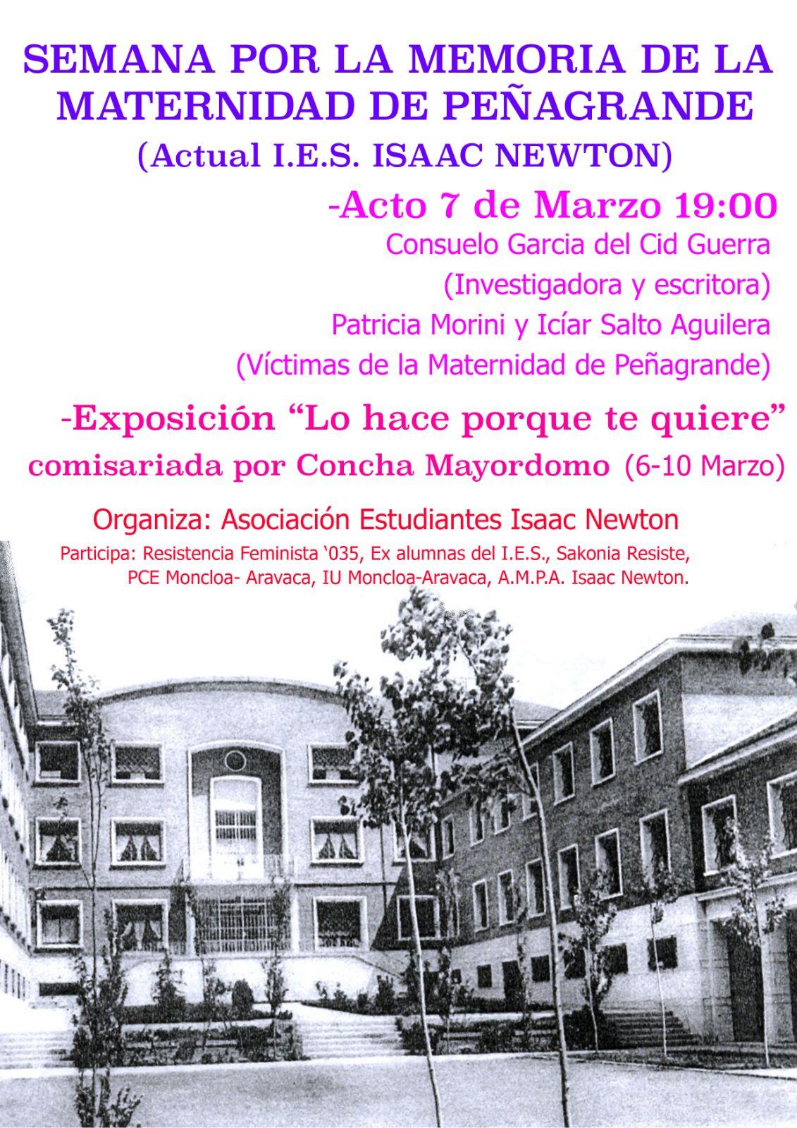 7 de marzo Acto memoria de la Maternidad de Peñagrande