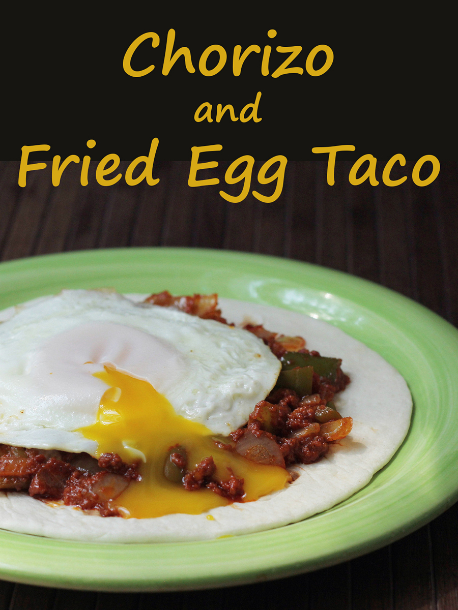 Chorizo tacos with fried eggs - a fast and easy meal with tons of flavor.