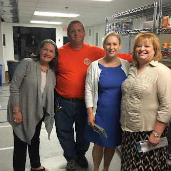 Senator Gillibrand Tours Vets Food Bank
