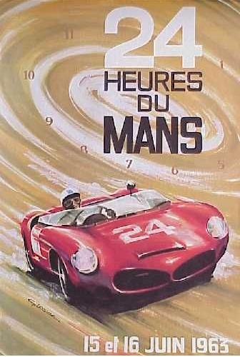 Affiche officielle des 24 Heures du Mans 1963