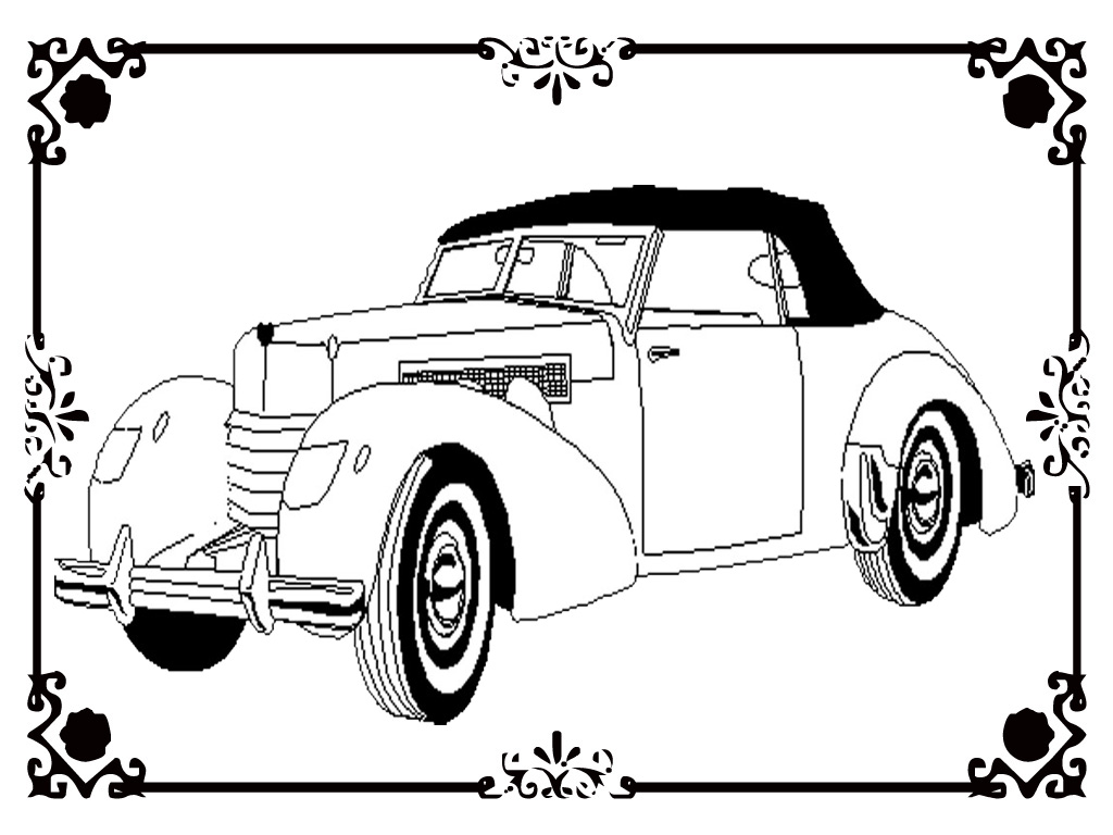 Realistic Car Coloring Pages : Free printable antique car coloring pages realistic