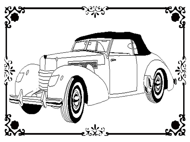 free printable antique car coloring pages