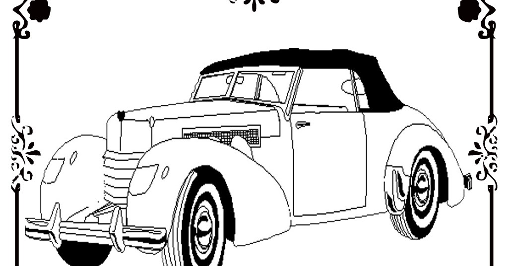 Antique Car Coloring Pages : Free printable antique car coloring pages realistic