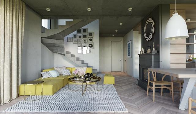 interior dengan aksen warna kuning 8