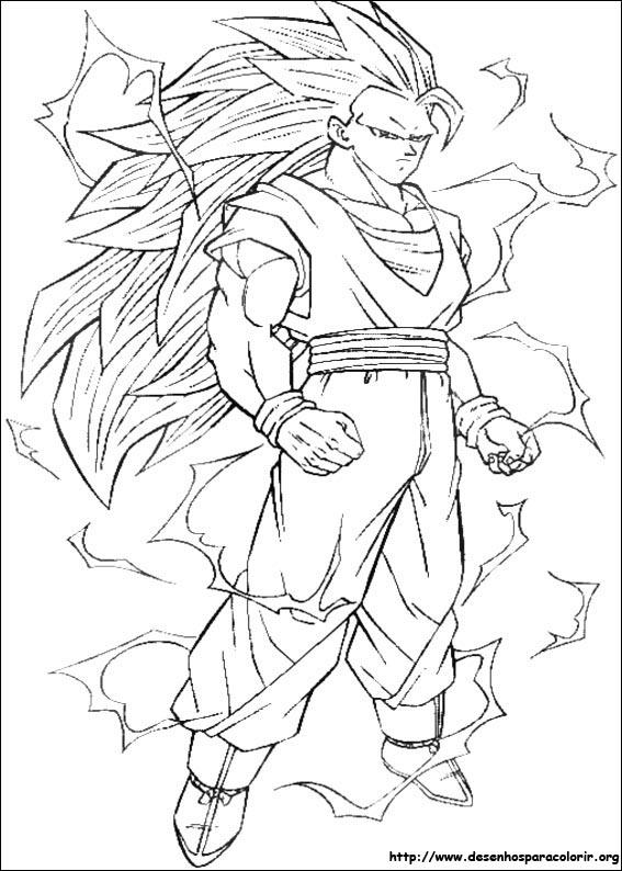 imagens para colorir do dragon ball z - Desenhos de Dragon Ball Dragonball para colorir jogos