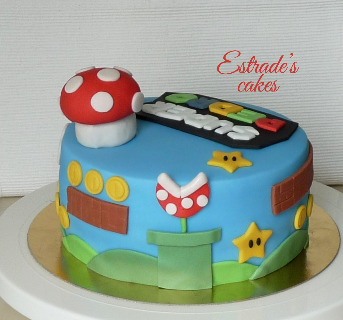 Tarta de Mario Bros sin lactosa - 3