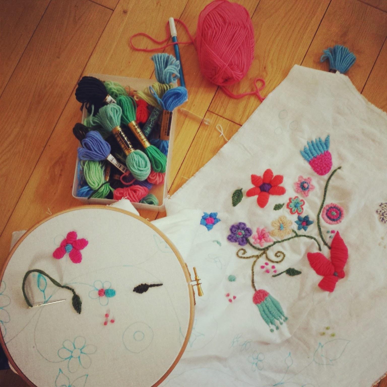 Tutorial: Como bordar con lana. / Soy un Mix!