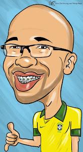 Eu na caricatura