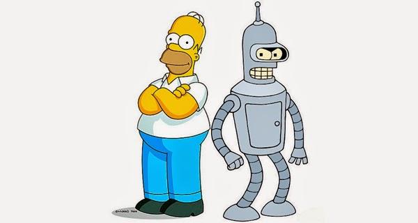 Homer y Bender en Simpsorama