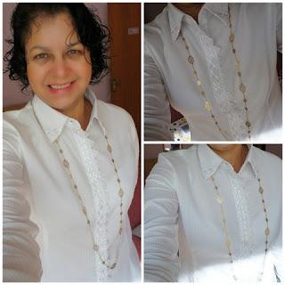 """camisa-branca-customizada-com-renda-guipir"" www.alinhavosdemoda.com.br"