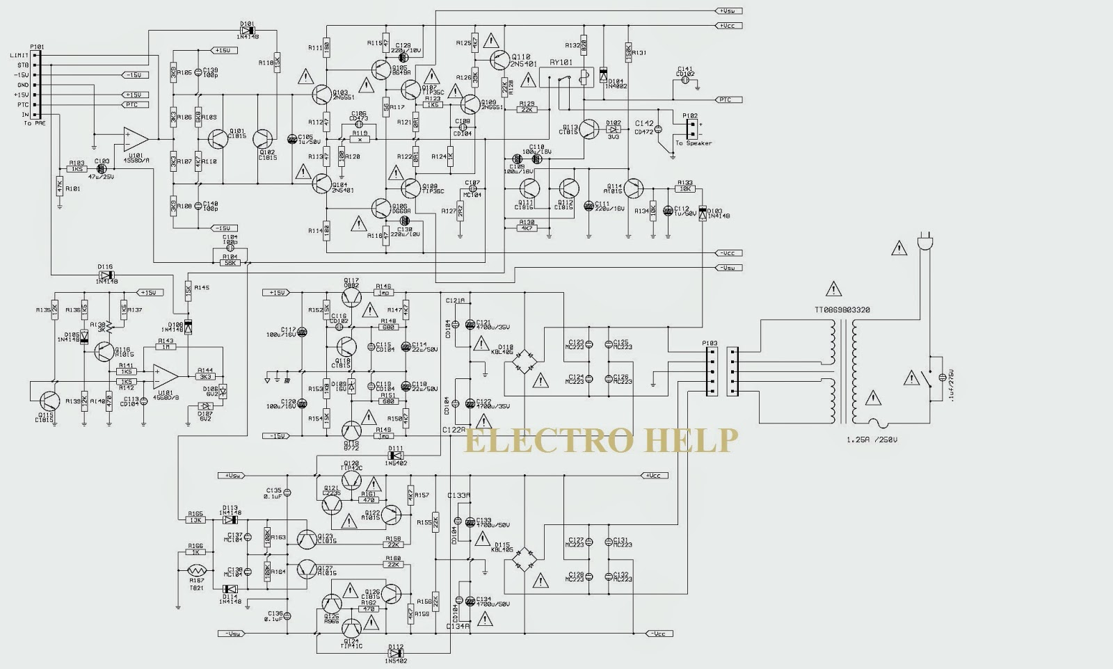 jbl home theater system cs 460 and cs 680 schematic  circuit diagram