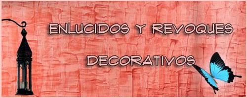 enlucidos y revoques decorativos