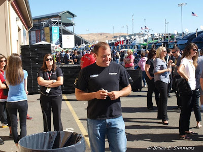 Ryan Newman walking into drivers meeting...