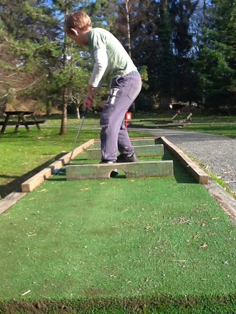 Crazy golf at Brockhole