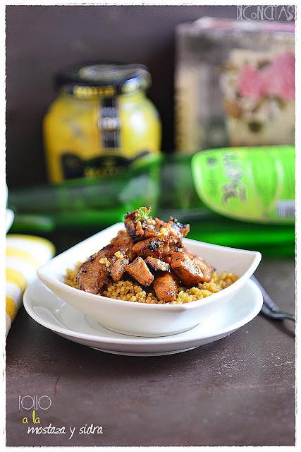 Pollo a la mostaza y sidra