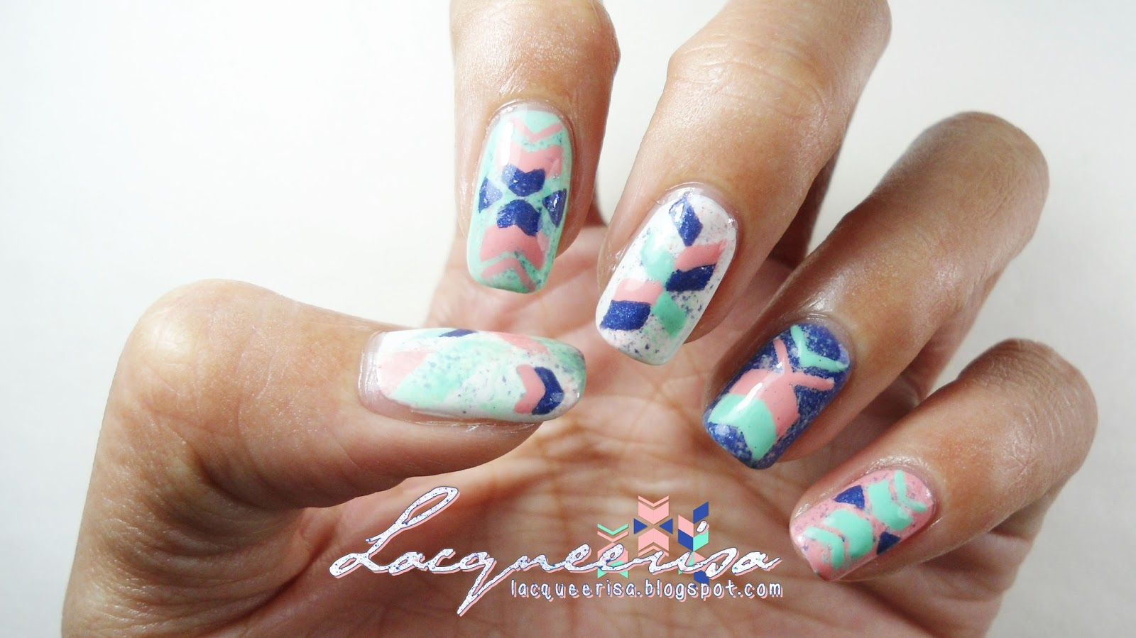 piCture pOlish Blog Fest 2013: Pattern of Arrows by Lacqueerisa