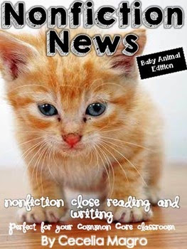 https://www.teacherspayteachers.com/Product/Non-Fiction-News-Common-Core-Close-Reading-and-Writing-K-2-Baby-Animal-Edition-1632220
