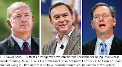David Sokol, Mike Duke and Eric Schmidt