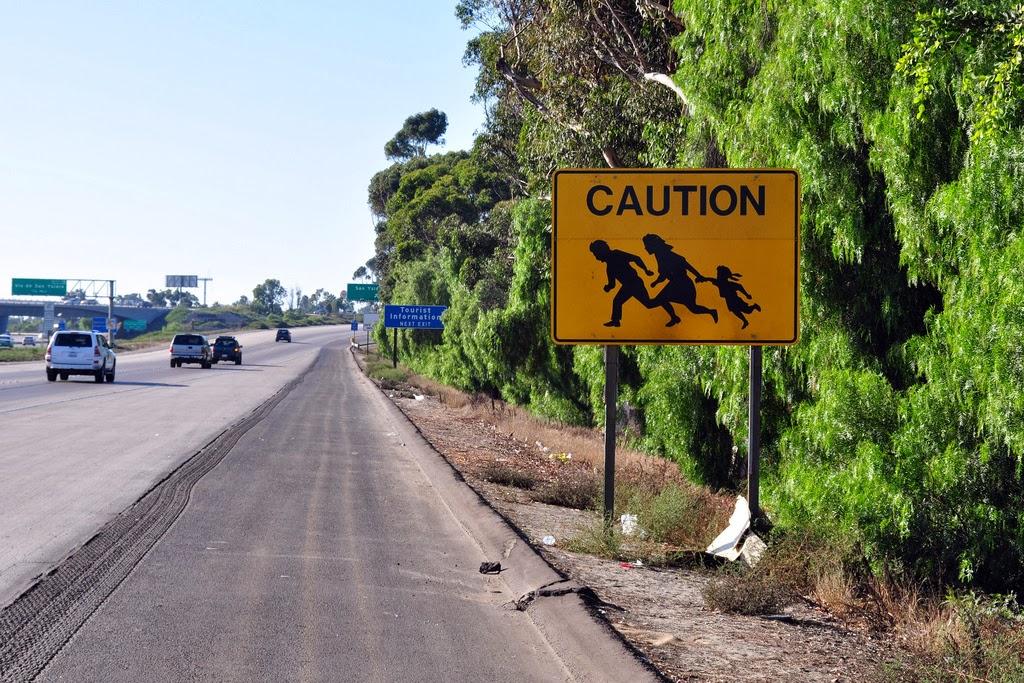 Illegal Immigrant Crossing