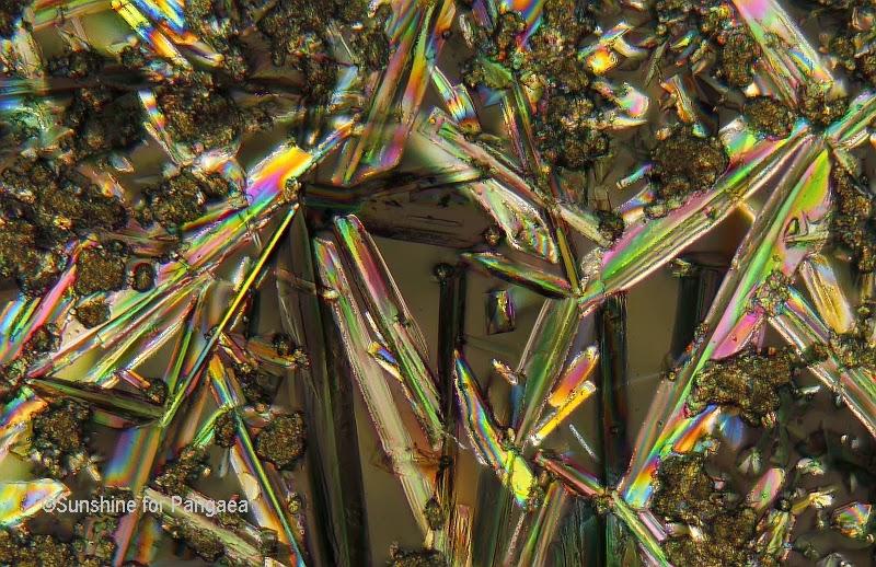 Sodium aluminate crystals