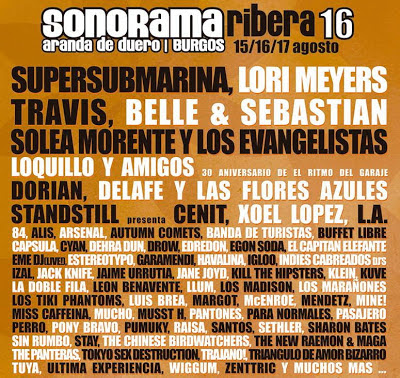 Sonorama Ribera 16. 2013. Cartel Definitivo