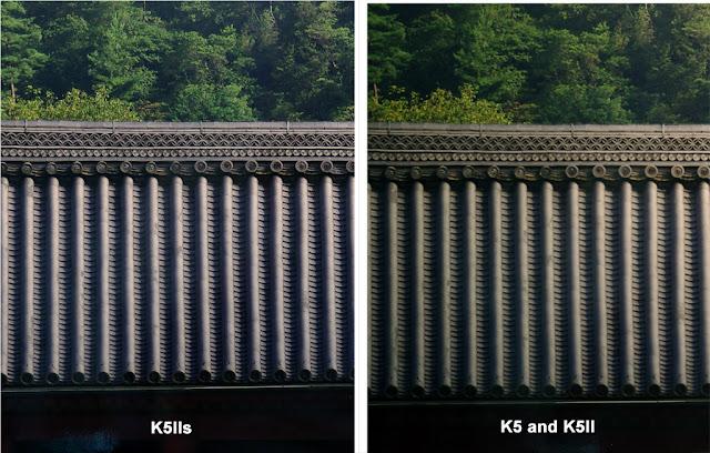 Отличие матриц K-5 IIs от K-5/K-5 II