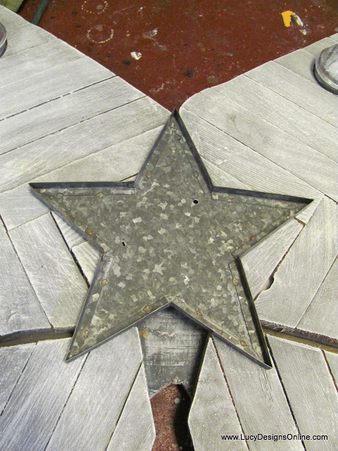 recycled metal star shape