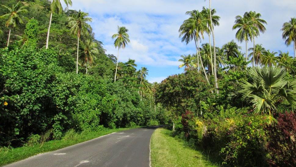 Route de ceinture de Moorea à Hauru Tiahura