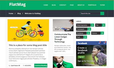 FlatMag - SEO Responsive Blogger Template