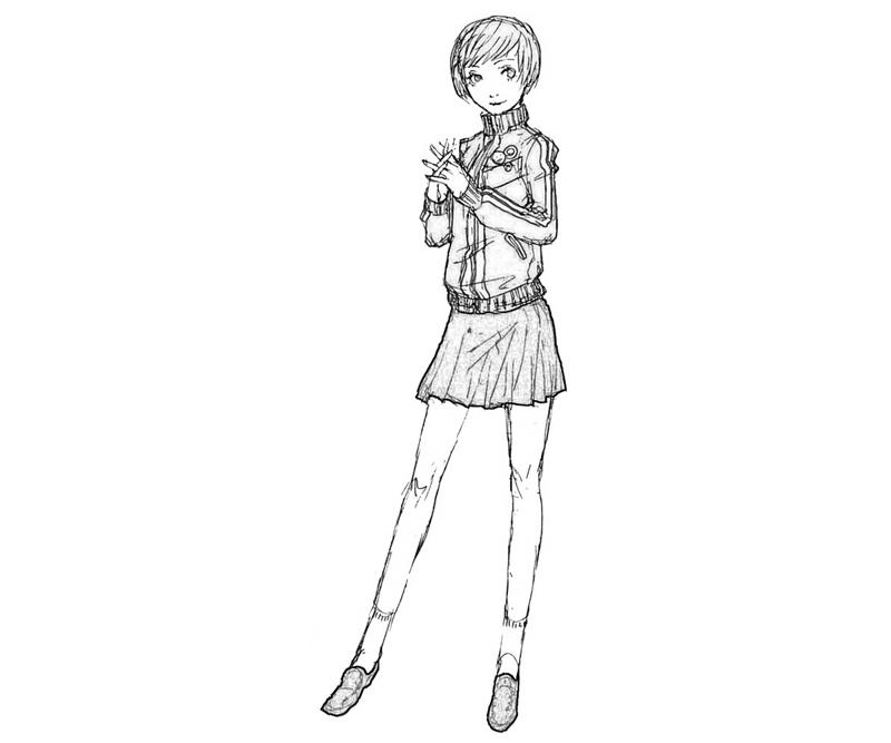 chie-satonaka-draw-coloring-pages
