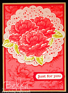 Pretty Stippled Blossoms Card by Stampin' Up! Demonstrator Bekka Prideaux - check her blog for more ideas with this stamp set which costs just £18.95 in clear mount