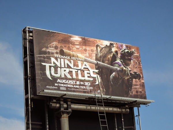 Donatelllo Teenage Mutant Ninja Turtles film billboard