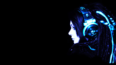 Widescreen Headphones Girls Wallpaper