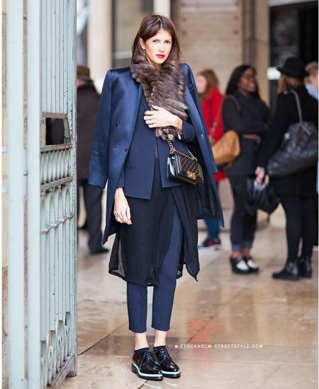 Saias e vestidos por cima de calças  moda tendencias 2015