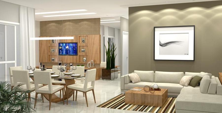 Sala De Estar E Sala Jantar ~ Nossa tão sonhada casa! Inspirações  Sala de jantar com estar!!!