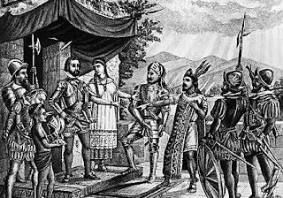 Hernán Cortés y Cuauhtémoc