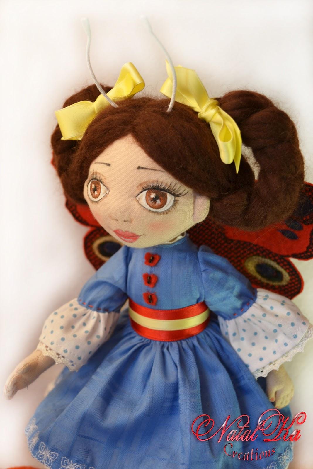 Текстильная кукла Катрин. Stoffpuppe Katrin. NatalKa Creations