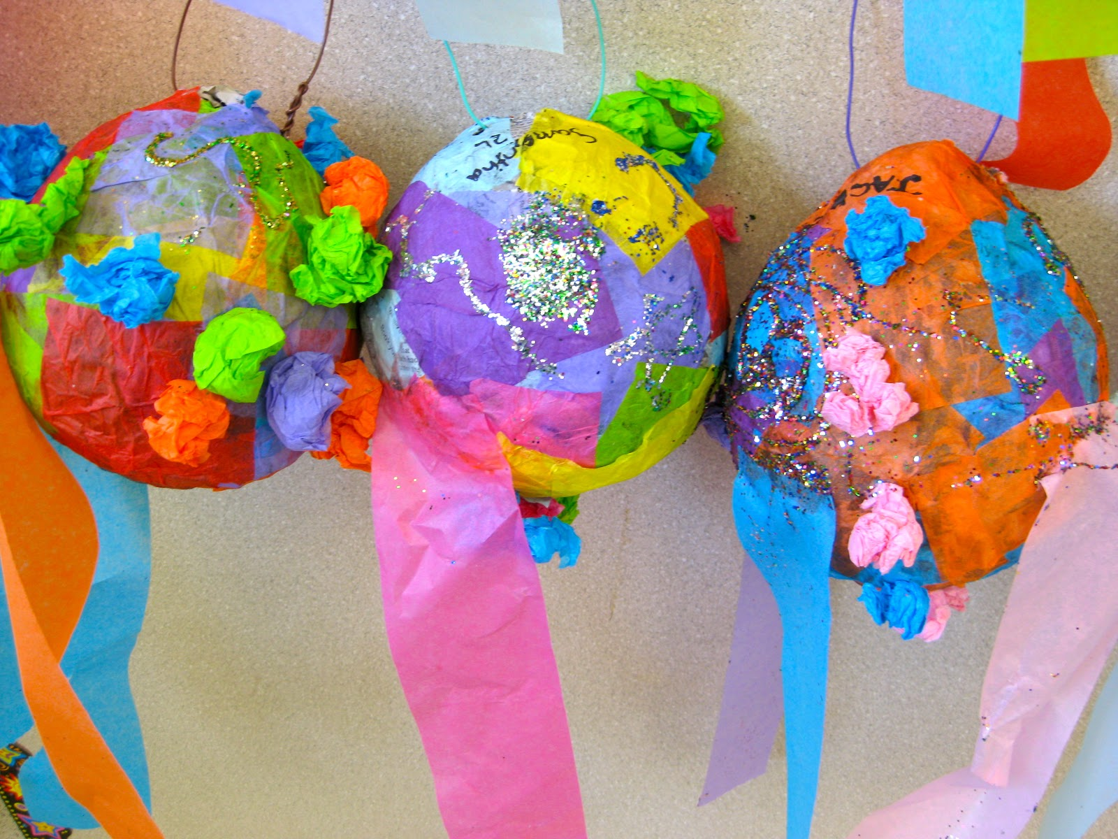 Perfect pinatas by 2nd grade lower school art at kinkaid for Perfect paper mache